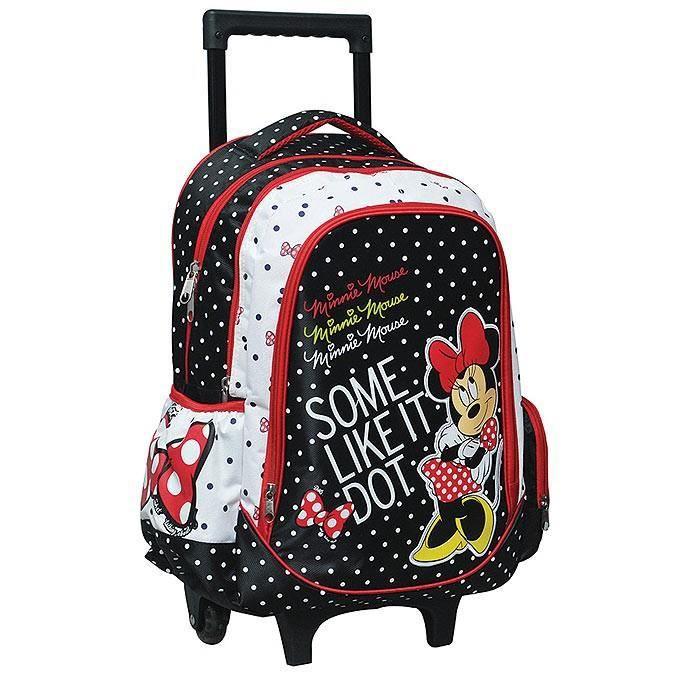 Cartable à roulettes Minnie Mouse 43 CM Trolley - Achat   Vente ... 8a4d2afe2c32