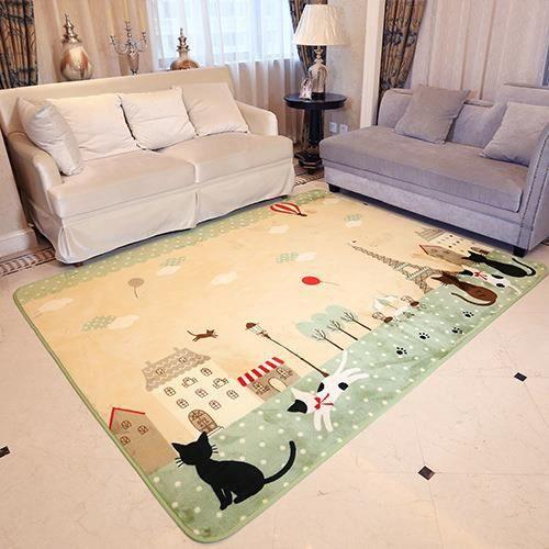 130*185cm Tapis Salon carpet tapis chambre enfant bébé ramper Shaggy ...