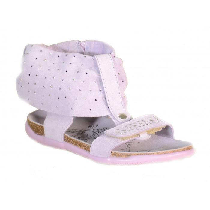 Primigi - Primigi Sandales Petit Fille Velcro Cuir Violet 62911