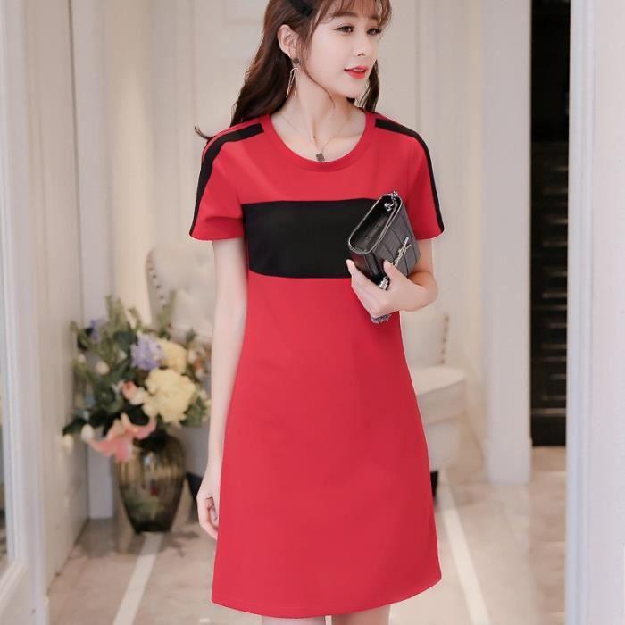robe femme nouveau style coréen mode tricot manches courtes sexy slim