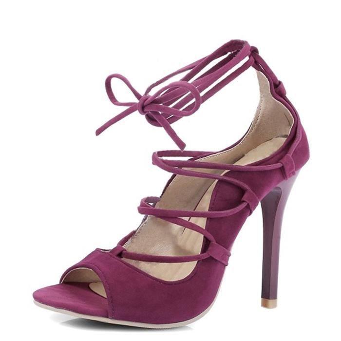 Haut Cheville Ouvert Talon Sandales Pointu Tomwell Orteil Chaussures Sandals Femme Escarpins Sangle D9IEH2