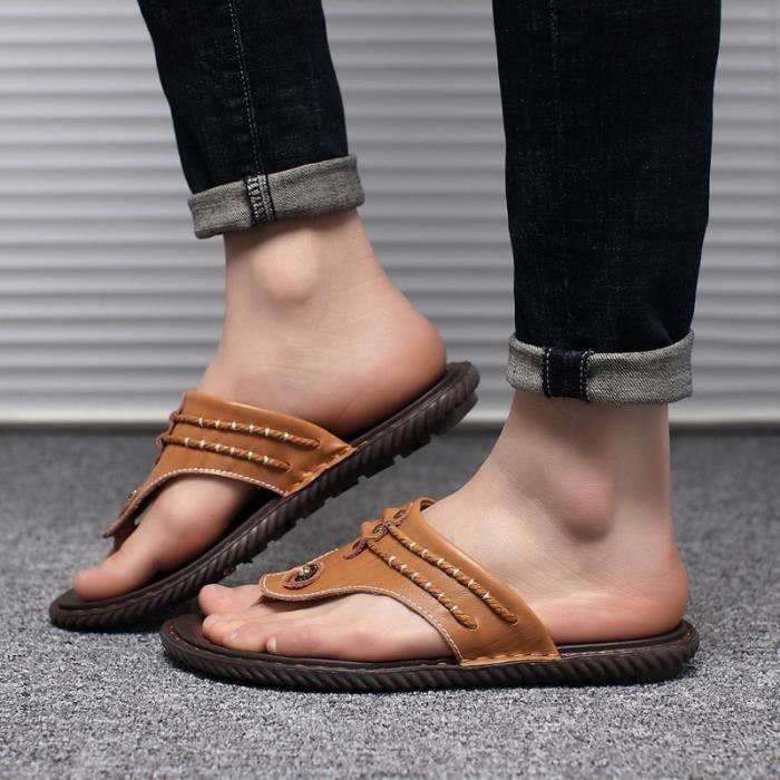 Style Coréen Skid-résistance respirante Chaussures Sandales pour homme