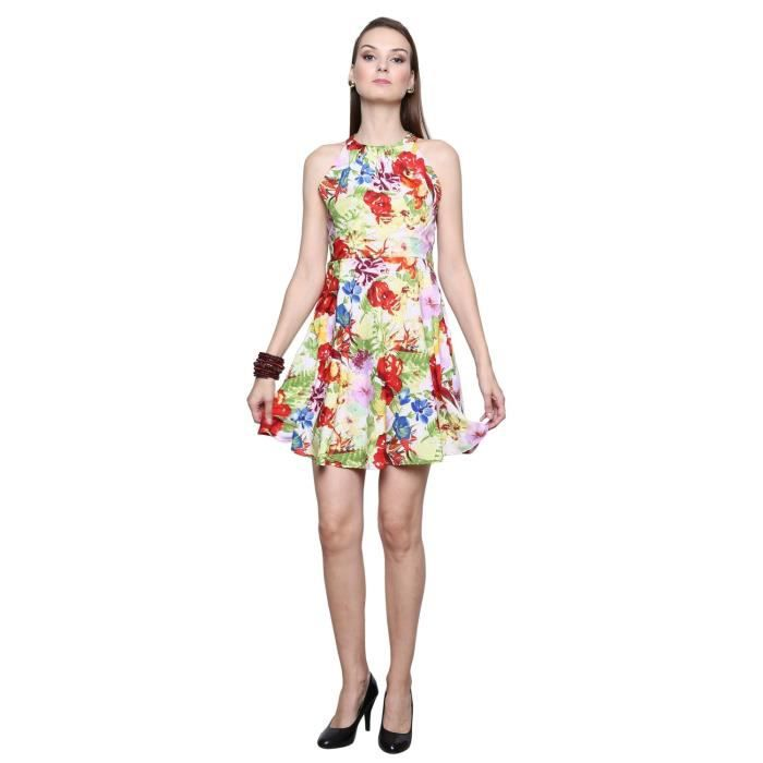 Womens Dress Printed With Crepe Taille Floral And Flare AP8TE Lining tnu0022 Fit 34 IW4qIYr