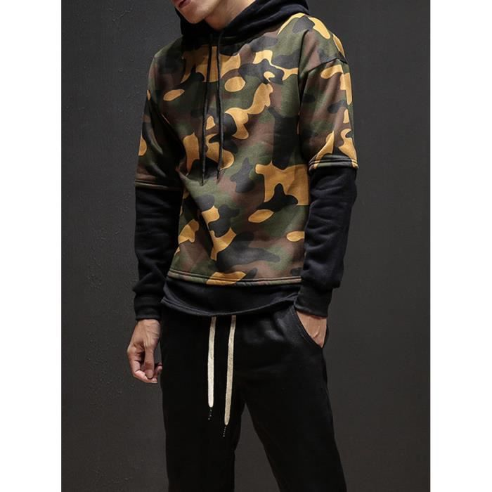 D'hiver Veste Wei460 Outwear Camouflage À Pardessus Hommes Manteau Capuchon Survêtement g1vBqg