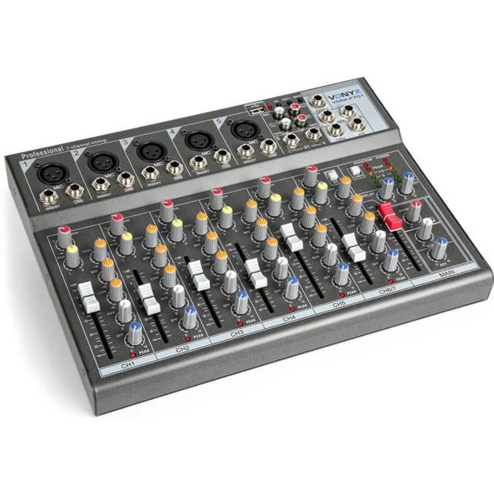 table de mixage 5 entrees micro