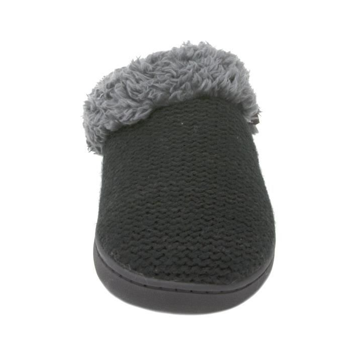 Knit Clog Slipper With Faux Fur Trim RPBIR Taille-40