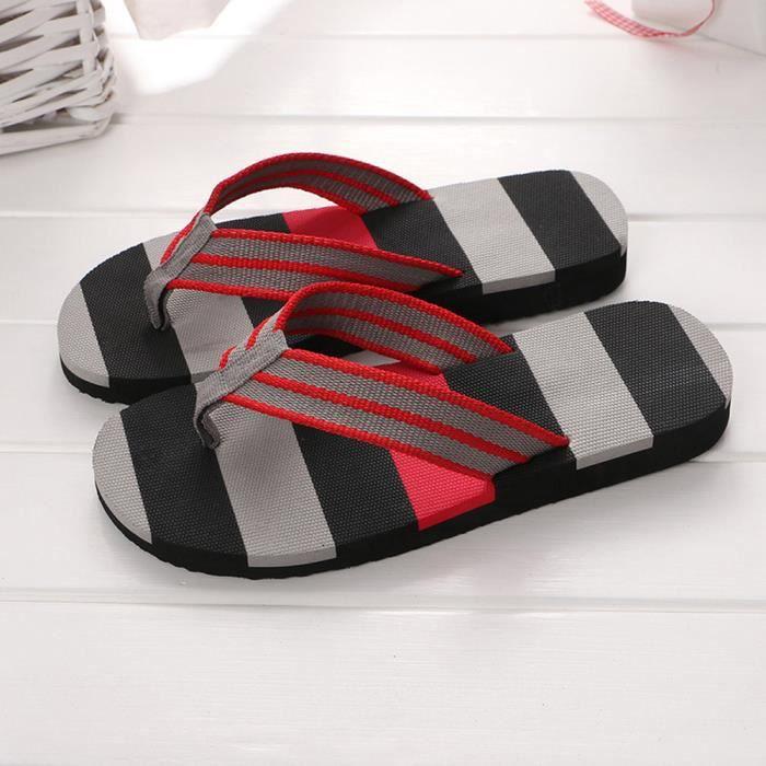 Chaussures Flops Extérieur Slipper Sandales Homme Ou D'été Hommes Couleurs Flip Gris Mélangées Intérieur paqF8wU