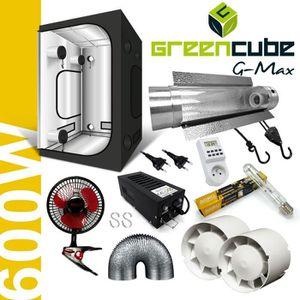 KIT DE CULTURE Pack Box 600W Cooltube G-Max 150 - Black Box + Flo