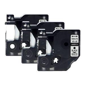 RUBAN - ENCREUR 3pcs Set 12mm 7 m noir sur White Label Bande DYMO