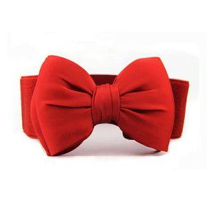 19e55a539821 CEINTURE ET BOUCLE Mode femme bowknot élastique large étirement boucl