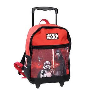 CARTABLE Sac à roulettes Star Wars The Force 38 CM rouge -