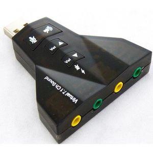 CARTE SON EXTERNE Clé USB - Carte son Externe 7.1 Micro 3D Stéréo -
