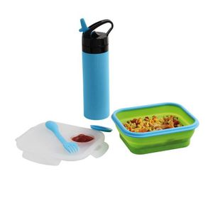 LUNCH BOX - BENTO  BE NOMAD MEN326B Set lunch box et gourde silicone