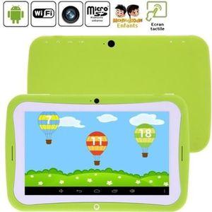 TABLETTE ENFANT Tablette enfant vert 8Go Android 4.2.2 Wifi 2 camé