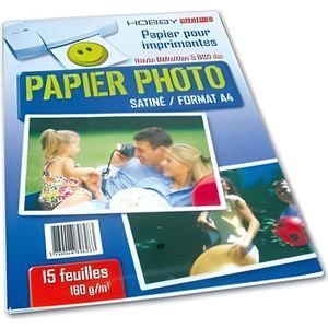 PAPIER PHOTO Papier photo Satine A4 160g - 15 feuilles