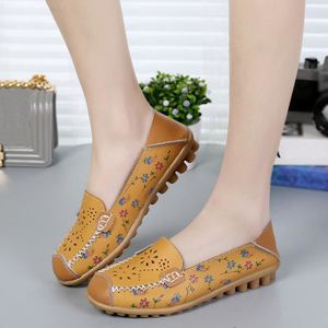 MOCASSIN Femmes occasionnels Rmbroidered doux fond plat ext