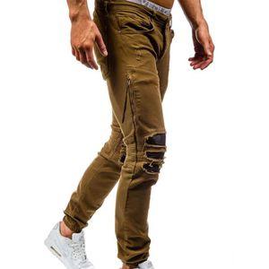 Cher Homme Vente Achat Kaki Pas Jeans OgFA7p7a