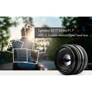 OBJECTIF lightdow 3517 35mm F1.7 Lentille Fixe Objectif Len