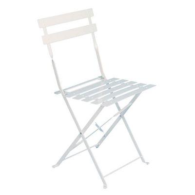 Chaise de jardin Camargue - Métal - Blanc - Achat / Vente fauteuil ...