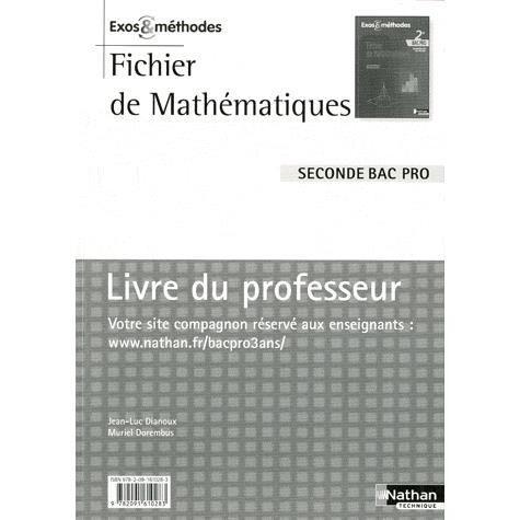 Mathematiques Seconde Bac Pro Achat Vente Livre Jean Luc
