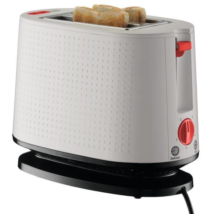 BODUM 10709-913EURO-3 Bistro Grille-pain électrique double fente - 940 W - Blanc crème