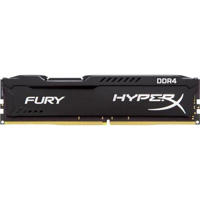 HYPERX Mémoire PC FURY Black- 8Go - DDR4 - 2666MHz - CL16 - DIMM