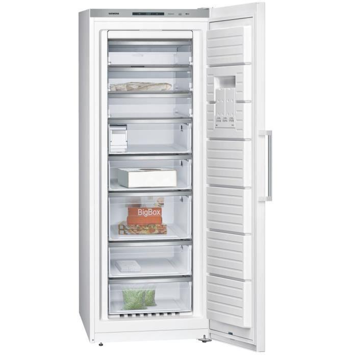 SIEMENS GS58NAW41 - Congélateur armoire - 360L - Froid ventilé - Classe A+++ - L 70 x H 191 cm