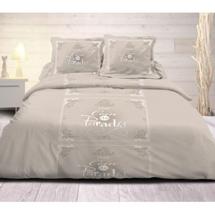 parure de lit drap plat drap housse et taies 160x200. Black Bedroom Furniture Sets. Home Design Ideas