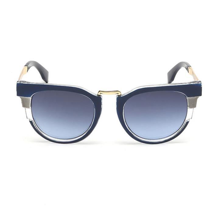 Lunettes de soleil de haute qualité Refroidir Trendy Femme Homme Dazzling Cadres Unisexe Bleu