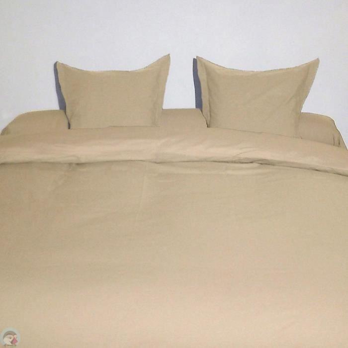 Housse de couette king size beige 300x250 cm - Achat / Vente housse ...