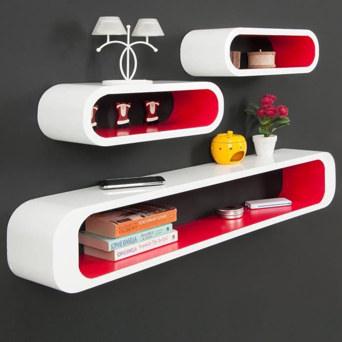 etagere cube rouge achat vente pas cher. Black Bedroom Furniture Sets. Home Design Ideas