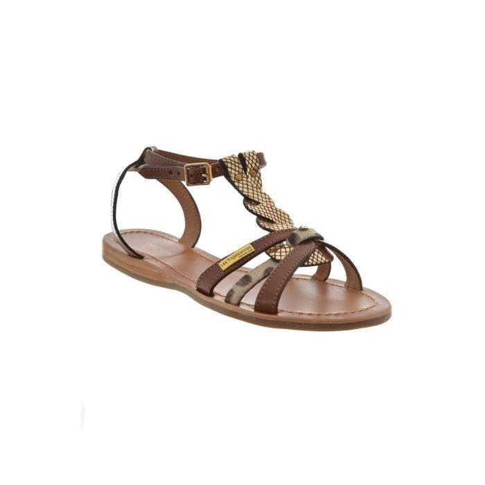 sandales - nu pieds les tropeziennes sandales hams marron