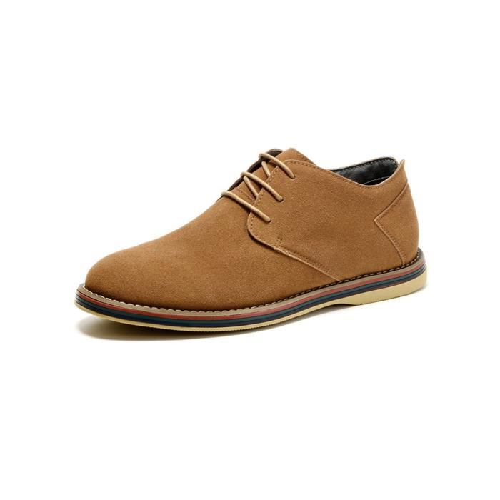 SIMPVALE Mocassins Suede Classic Oxford Cuir Chaussure Homme MGpLQiJ