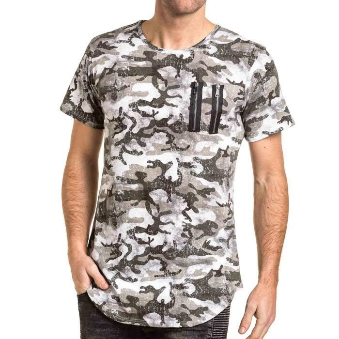 t shirt homme camouflage achat vente t shirt homme. Black Bedroom Furniture Sets. Home Design Ideas