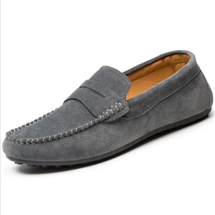 chaussures homme Marque De Luxe Loafer hommes de plein air Hiver Nouvelle arrivee Confortable chaussure En Cuir Grande PlLBhBqw