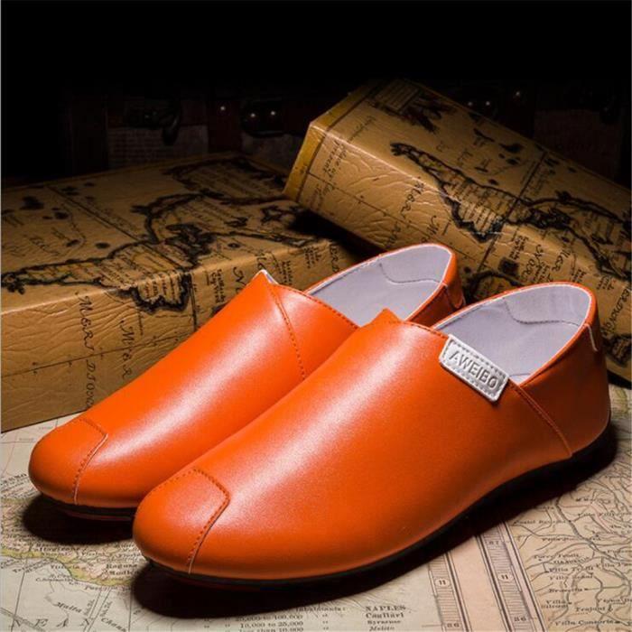 Moccasins homme Qualité Supérieure De Marque De Luxe 2017 cuir Nouvelle arrivee Chaussures Grande Taille Confortable