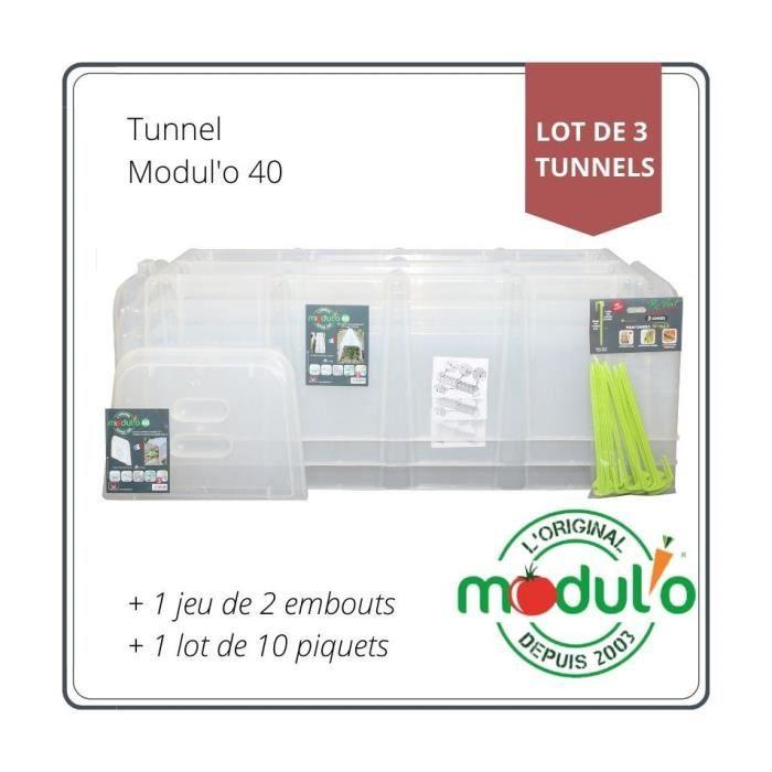 lot de 3 tunnels de for age avec embouts et piq achat vente serre de jardinage lot de 3. Black Bedroom Furniture Sets. Home Design Ideas