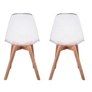 Chaise transparente bois Achat Vente pas cher