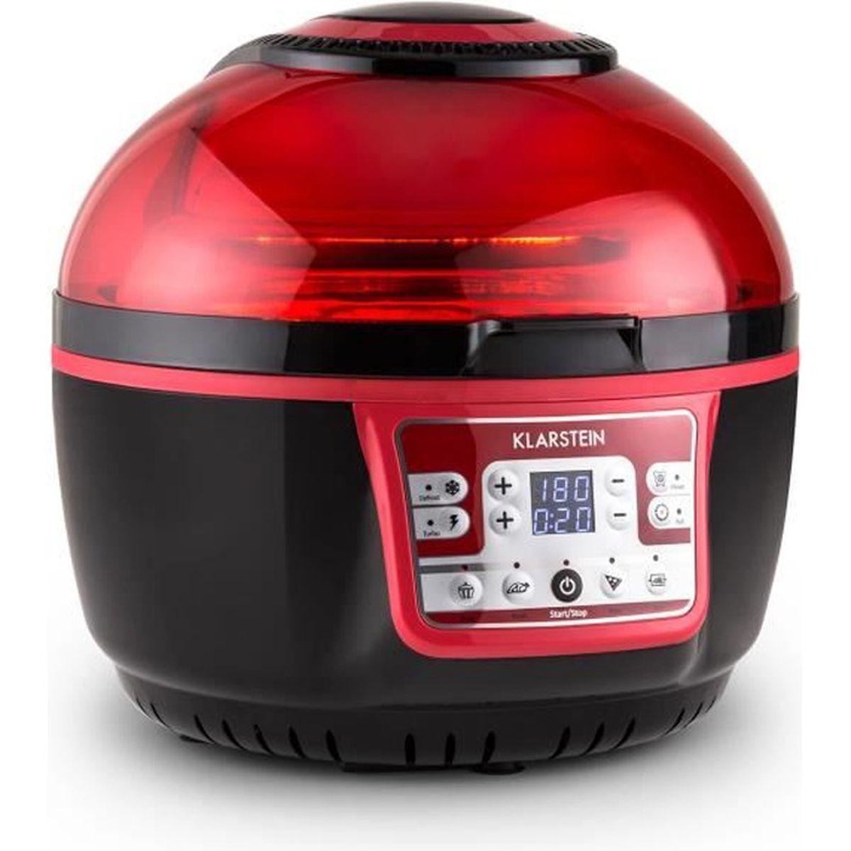 klarstein vitair turbo friteuse air chaud de 1400w avec fonction grill pour cuisson sans. Black Bedroom Furniture Sets. Home Design Ideas