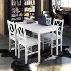Cuisine 4 Set Chaise En Avec Bois Table Meubles Blanc shxQtrCd