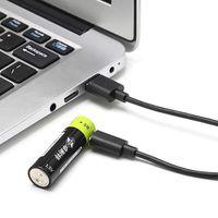 PIÈCE DÉTACHÉE DRONE Batterie ZNTER 1.5V 1250mAh USB Rechargeable 4pcs