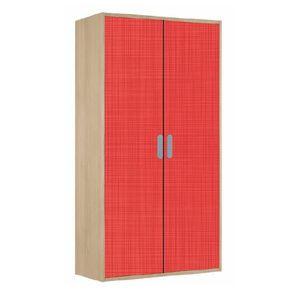 Armoire enfant CHARLIE Bouleau/Rouge - Achat / Vente armoire de ...