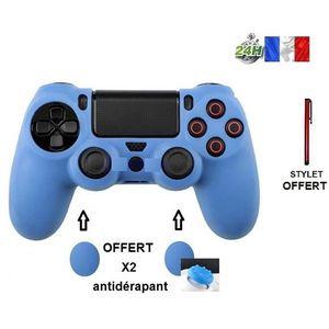 MANETTE JEUX VIDÉO protection manette, silïcone bleu housse étui. coq