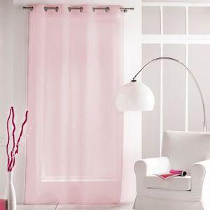 rideaux rose poudre achat vente pas cher. Black Bedroom Furniture Sets. Home Design Ideas