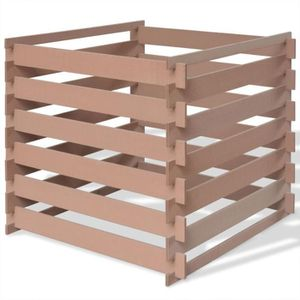 COMPOSTEUR - ACCESSOIRE Composteur de jardin 90 x 90 x 85 m WPC Marron