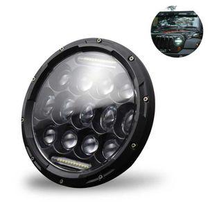 PHARES - OPTIQUES Phare LED rond noir approuvé de 7 '' 300 W pour JK
