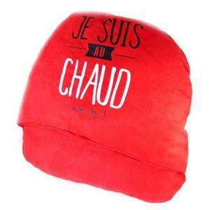 CHAUSSON - PANTOUFLE Géant chausson duo Citations (Je suis au chaud. .