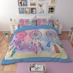 HOUSSE DE COUETTE SEULE Parure de lit attrape rêves 200*230 cm 3D effet 4