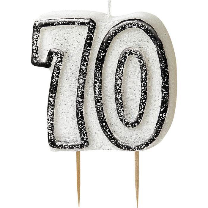 Bougie anniversaire noire 70 ans - Achat / Vente bougie anniversaire Bois - Cdiscount