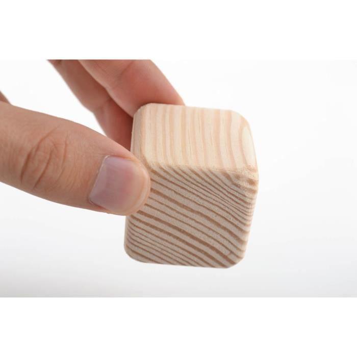 cube en bois brut objet à peindre ou décorer fait - achat / vente